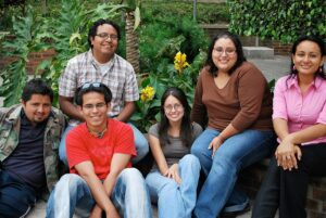 Attractive group of Hispanic male and female students